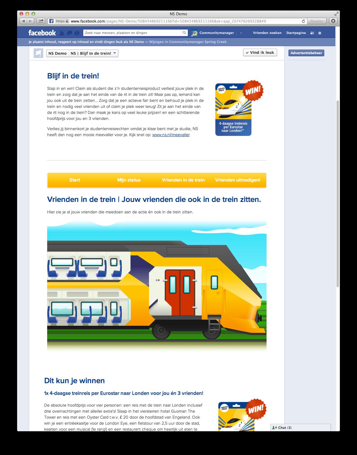 Facebook campagne Blijf in de trein voor ex-studenten - visual 2